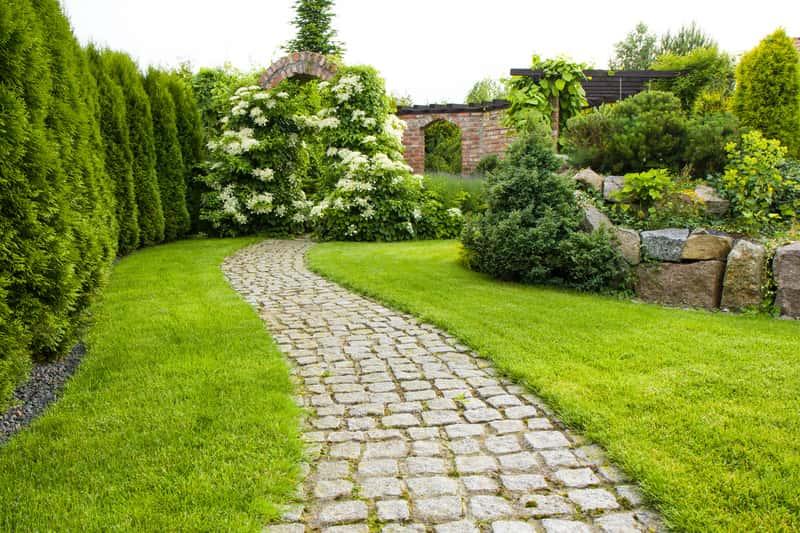 Pięknie zaaranżowany ogród przydomowy