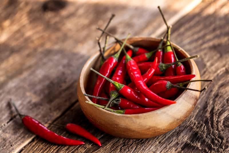 Czerwone papryczki chili