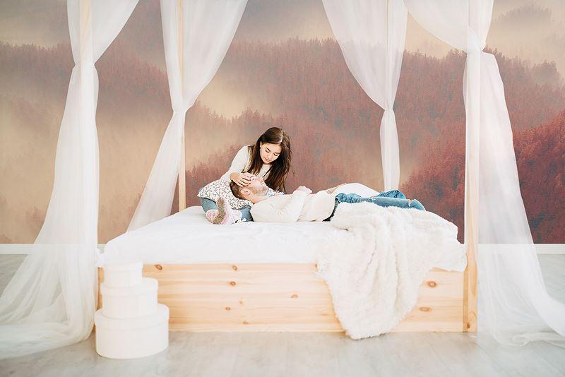 Fototapeta - las w sypialni