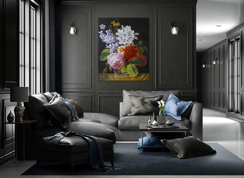 Obraz - kwiaty malowane na płótnie
