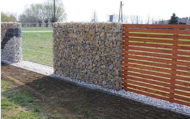 Zastosowanie ogrodzeń gabionowych