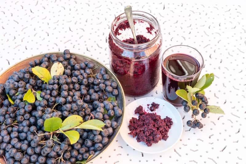 Przetwory z aronii i owoce aronii