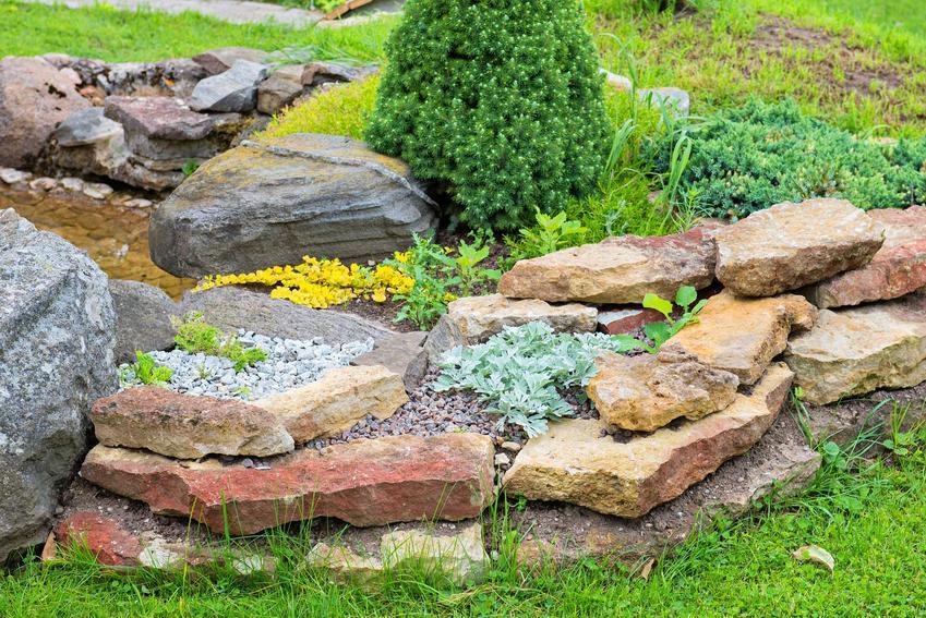 Budowa skalniaka z kamienia polnego krok po kroku nie jest trudna. Najważniejszym elementem jest stworzenie dobrego projektu