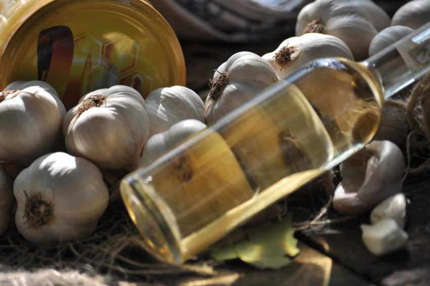 Nalewka czosnkowa na spirytusie w butelce oraz przepis na nalewkę czosnkową na przeziębienie krok po kroku