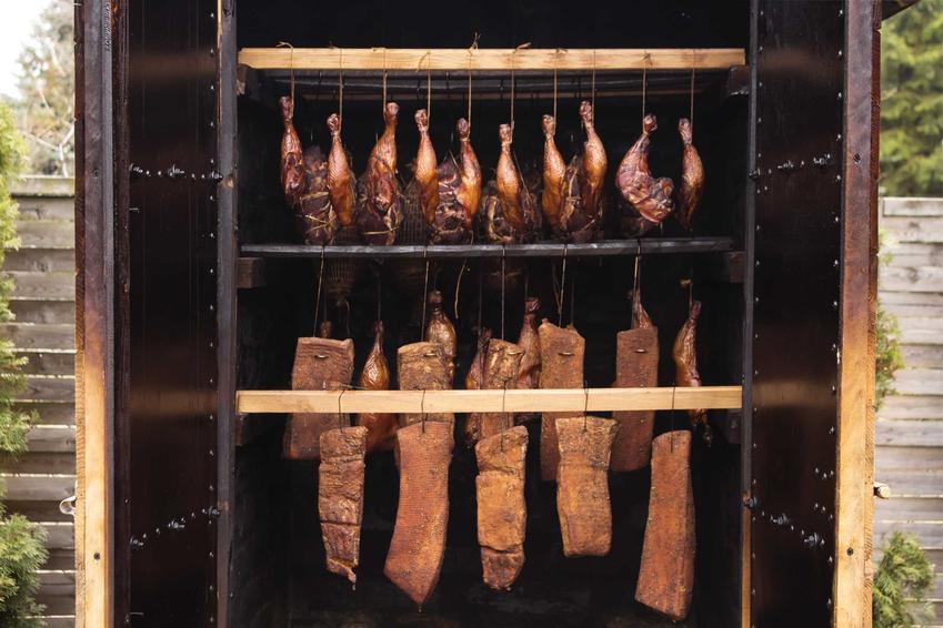 Mięsa i szynki podczas wędzenia w wędzarni, a także polecane rodzaje wędzenia i przepis na szynkę wędzoną