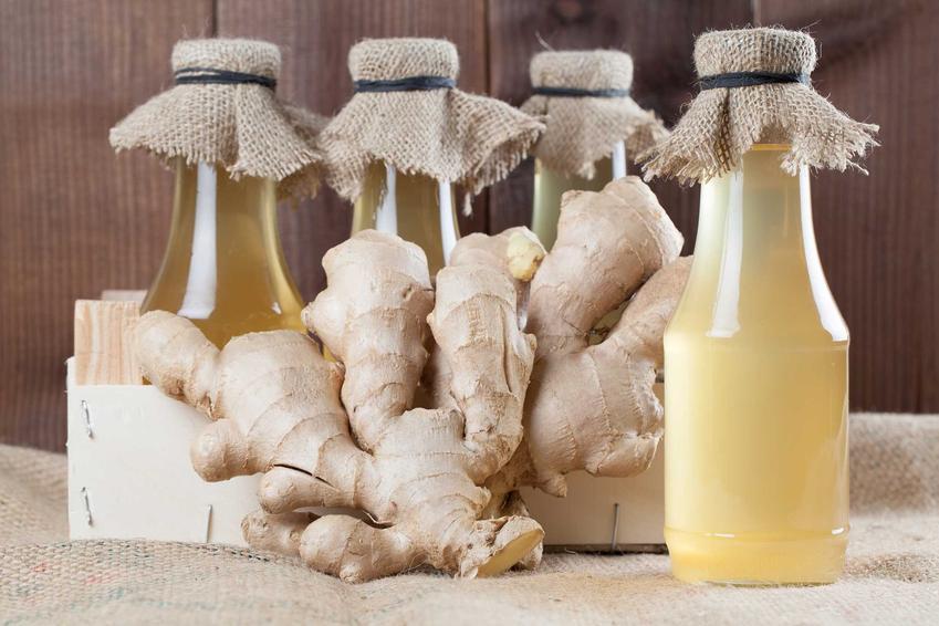 Syrop z imbiru w butelkach oraz przepis na domwej roboty syrop z imbiru miodu i cytryny oraz jego właściwosci zdrowotne i poprawiające odporność