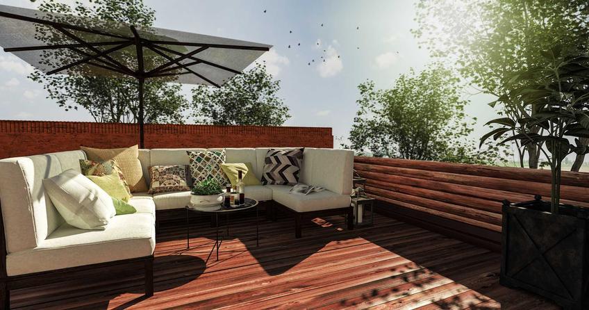 Wypoczynek ogrodowy z parasolem na tarasie i polecane komplety ogrodowe czy zestawy ogrodowe oraz na taras wraz z cenami