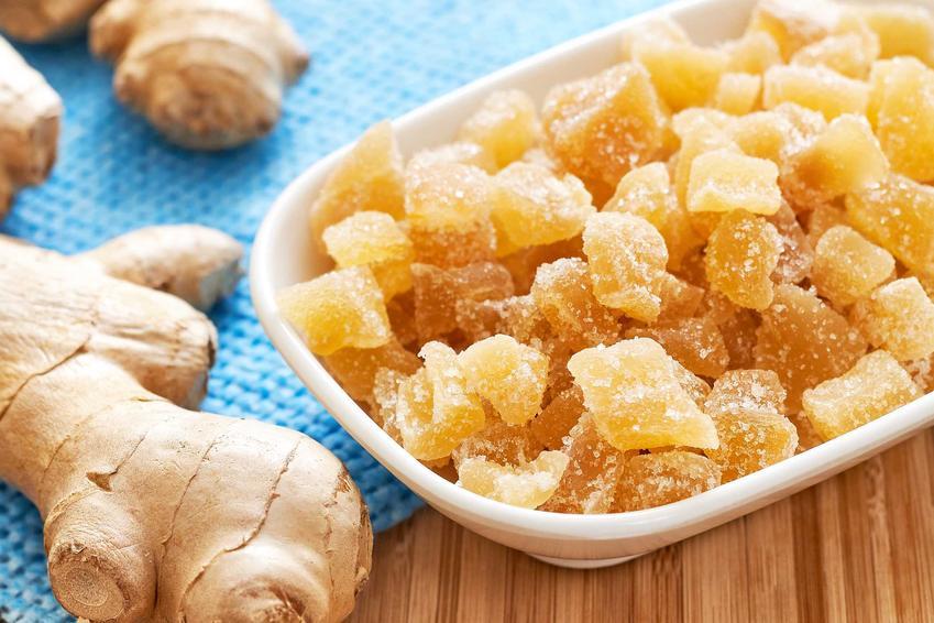 Imbir świeży i imbir kandyzowany oraz przepis na imbir w cukrze do herbaty na zimę krok po kroku, składniki i receptura