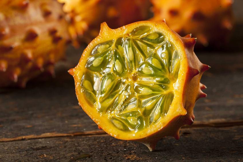 Ogórek kiwano albo ogórek afrykański, czyli egzotyczny owoc z rodziny dyniowatych, a także podpowiedzi, jak jeść kiwano