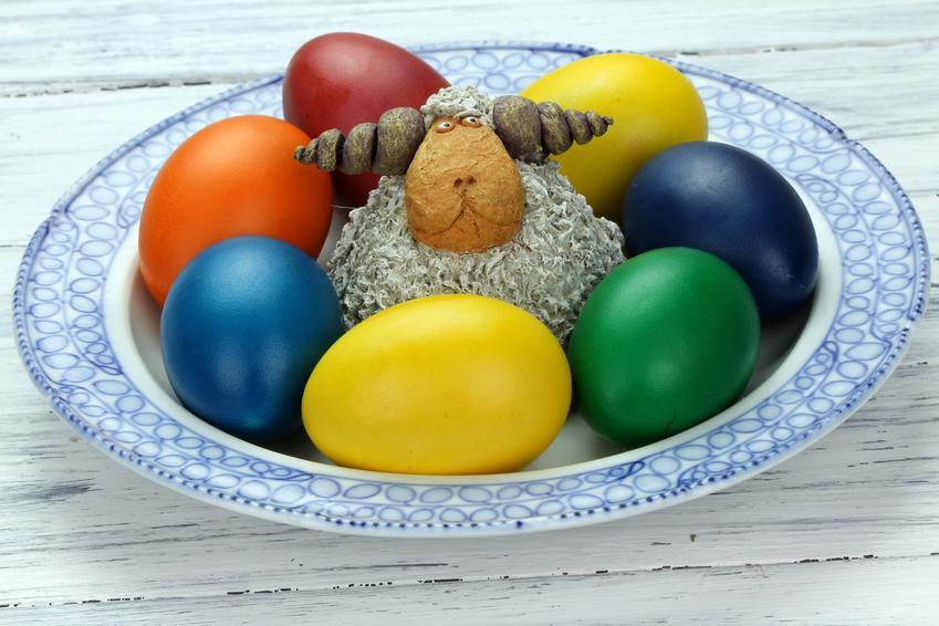 Kolorowe jajka z barankiem, czyli naturalne barwienie jajek i kolorowanie jajek wielkanocnych