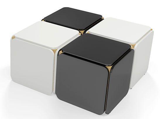 Mały, piękny i prosty- czarny stolik kawowy