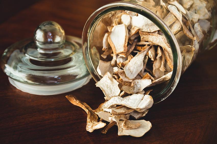 Suszone grzyby w słoiku oraz, jak przechowywać suszone grzyby i w czym trzymać suszone grzyby