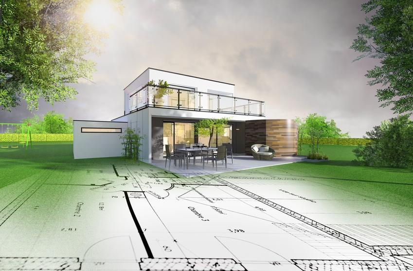 Dom jednorodzinny i projekt ogrodu, a także program do projektowania ogrodu