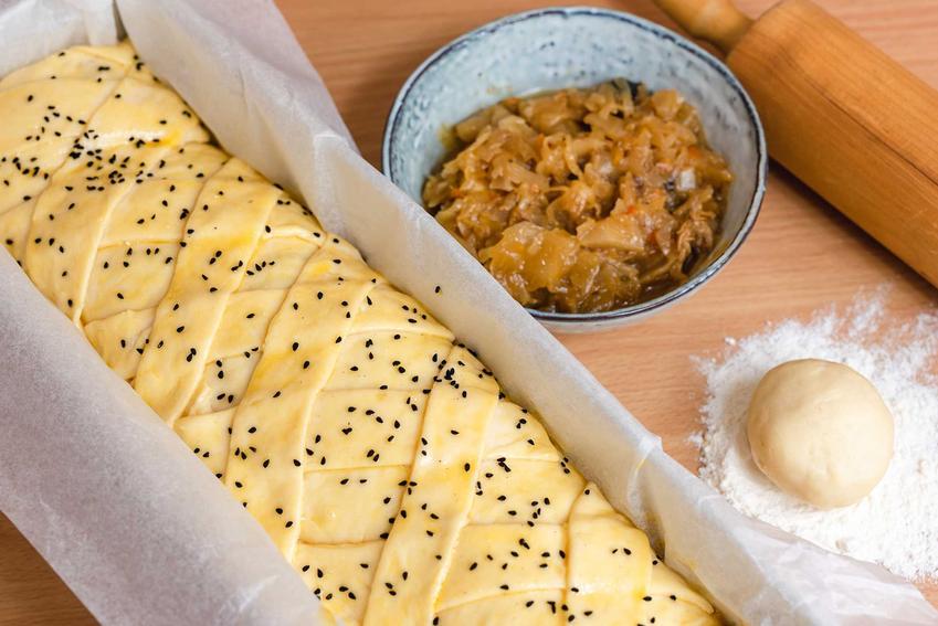 Przygotowywanie kulebiaka z kapustą, ciasto w brytfance, a także przepisy, wykonanie i przygotowanie